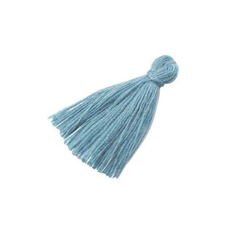 Tassel Grey Blue 30mm