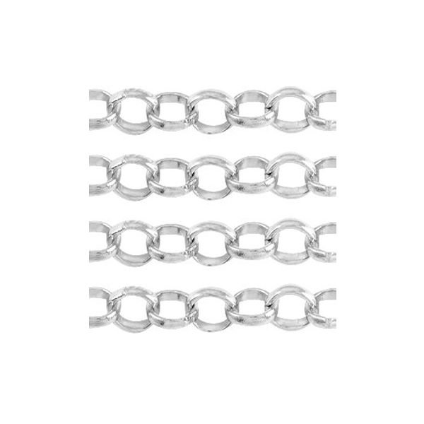 Jewellery Chain Necklace Silver 8mm, 50cm