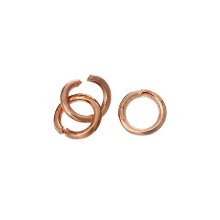 100 pcs Rose Gold 4mm