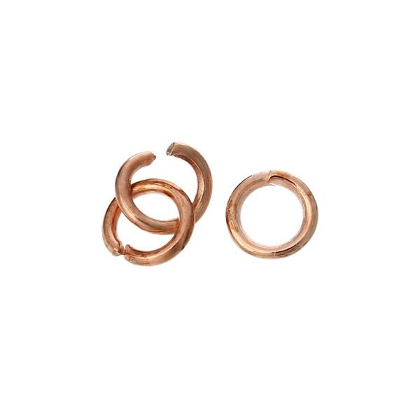 Jump Ring Rose Gold 4mm, 100 pieces