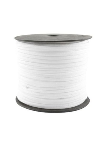 Faux Suede Cord White 3mm, 1 meter