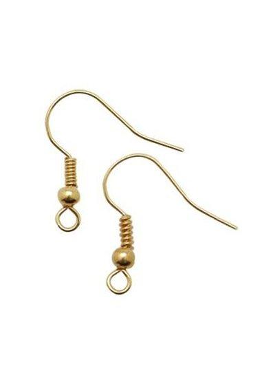 Gold earring hook 18mm, 5 pair