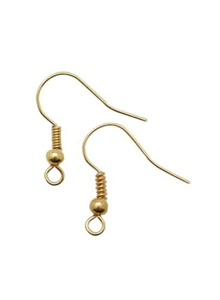5 pair Gold 18mm