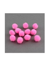 Pink pompom 10mm, 10 pieces