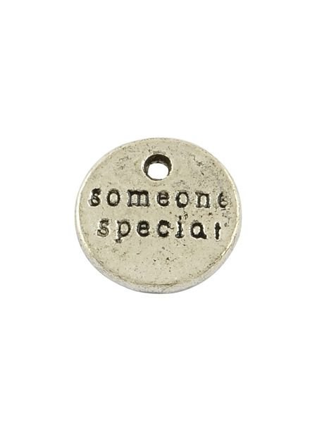 Silver Charm 'Someone Special' 10mm, 8 pieces