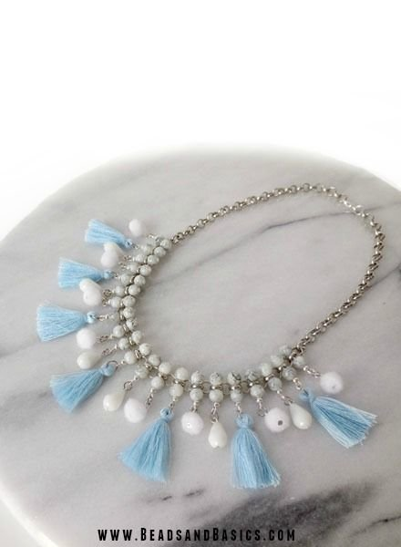 Statement Necklace with Tassels