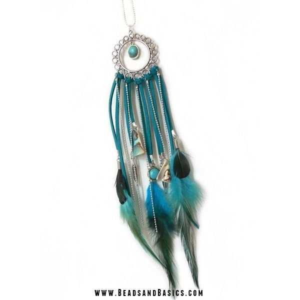 Create your own dream catcher necklace