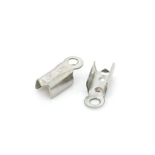 20 stuks Veterklem Zilver 4x10mm