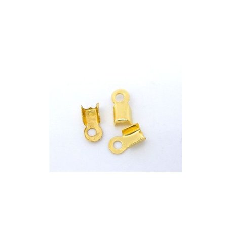 20 stuks Veterklem Goud 6x3mm