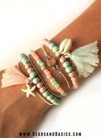 Zomerse Armbandjes in Mint en Roze