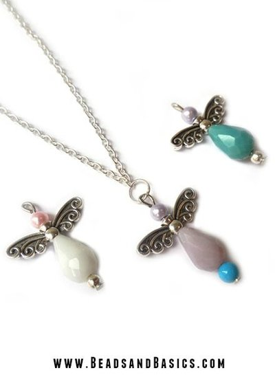 6 pieces Wing Silver Beads 22x6mm