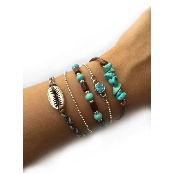 Summery turquoise with brown Set Self-Making