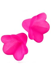 6 Pieces Flower Bead Fuchsia Pink