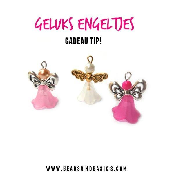 6 Pieces Flower Bead Light Pink