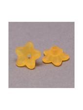 10 pieces Orange Flower Beads 9x4mm