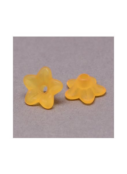 10 pieces Orange Flower Beads 9x4mm