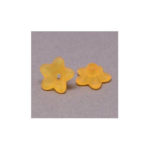 10 stuks Bloem Kralen Oranje 9x4mm