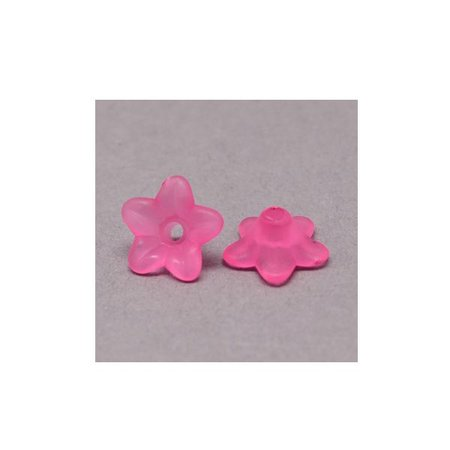 10 pieces Fuchsia Pink Flower Beads 9x4mm