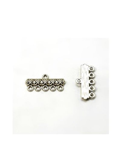 2 pieces Distributor Silver Edited 5 eyes 25x12mm