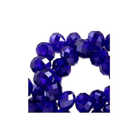 50 pieces Facet Bead Cobalt Blue 6x4mm