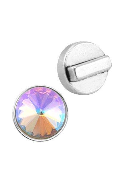 DQ Slider Silver Point for 12mm Rivoli Stone