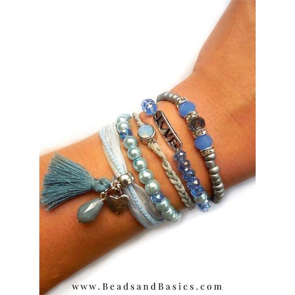 Blauwe Armband Met Magneetsluiting