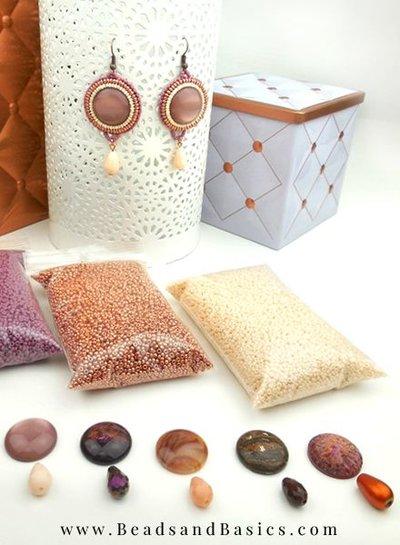 Bead Embroidery Earrings Making Beads Miyuki