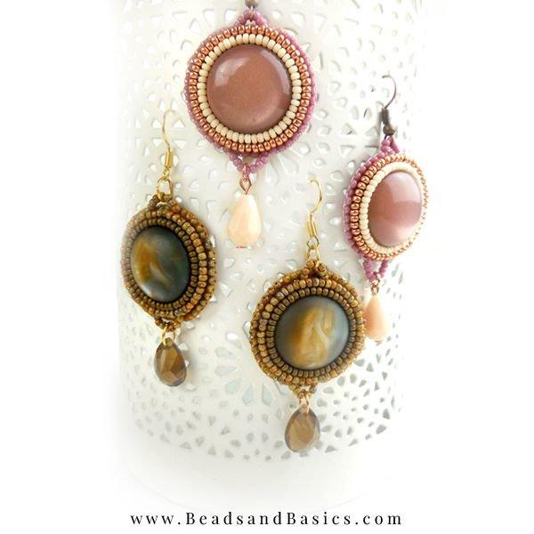 Earrings Making Miyuki Beads - Brown