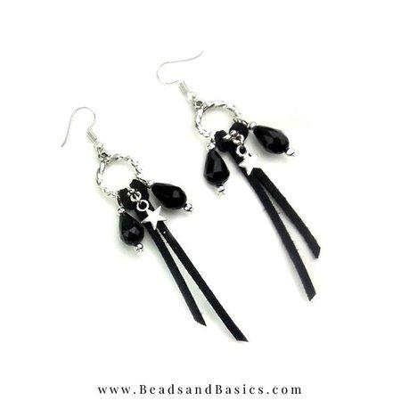 Trendy Oorbellen Maken - Zilver Met Zwart