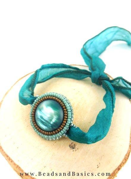 Bead Embroidery Armband Met DQ Zijde Draad