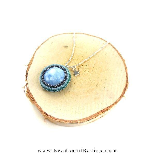 Bead Embroidery Bead Making with Blue Beads Miyuki