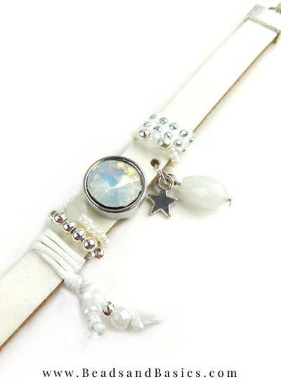 DQ White Leather Bracelet Making Himself