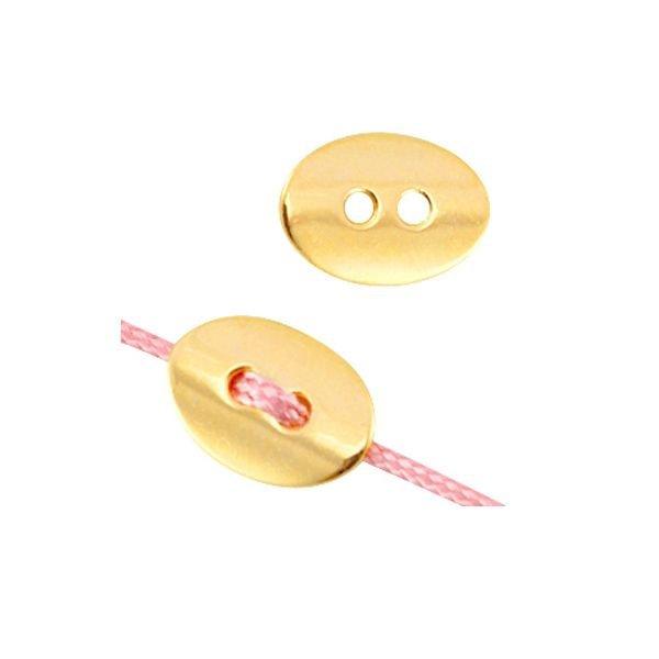 DQ Metal Button Gold 14x10mm