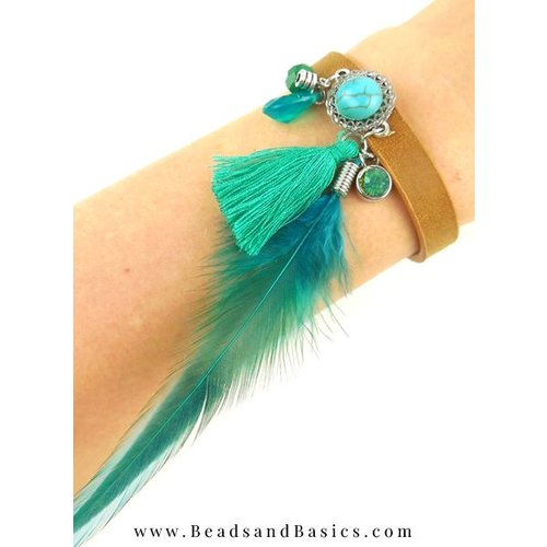 DQ Leather Bracelet Boho Style
