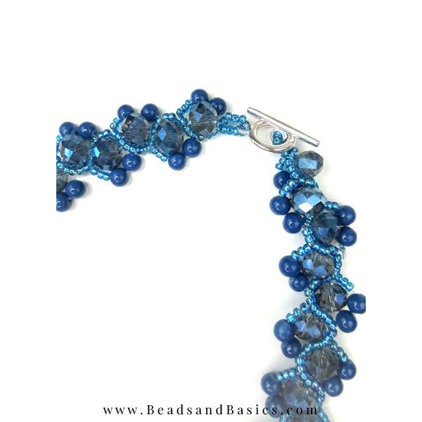 Blue Weaving technique Jewelry Making