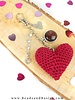 A self-Making Key With A Heart Crochet - DIY