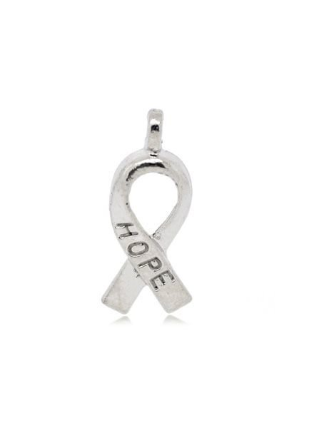 Ribbon Bedel Hope Zilver 19x8mm