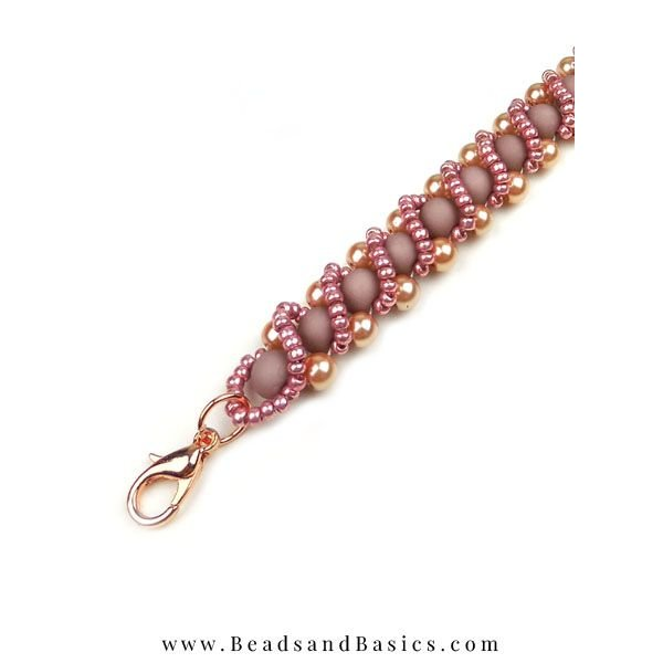 Rose Gouden Statement Armband - Rijg Techniek