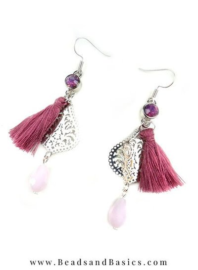 Making yourself Earrings With Tassels And Charms