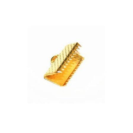 10 stuks Veterklem Goud 10x7mm