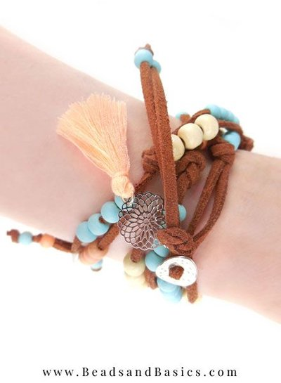Boho Statement Bracelet Making With Suede Laces