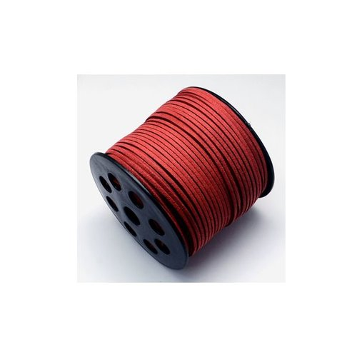 3 meter Suede Lace Fire Brick 3mm