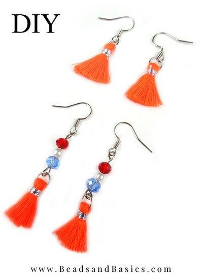 Rood Wit Blauw Oorbellen Voor Koningsdag Maken