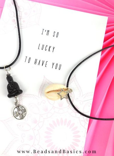 Lucky Buddha Necklace And Shells For Summer