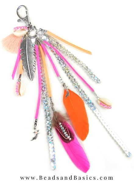 Mooie Zomerse Sleutelhanger Maken - Roze Met Oranje