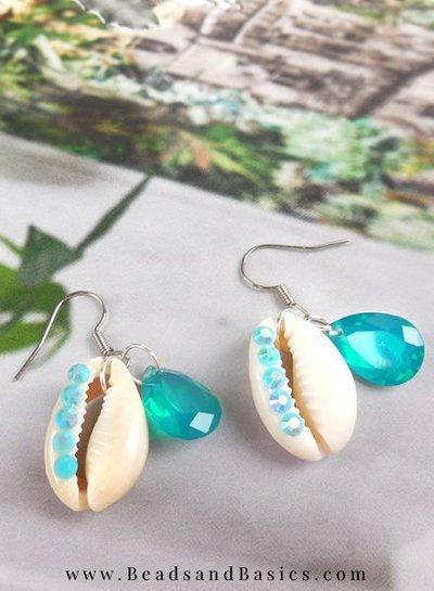Beautiful Kauri Shells Make Earrings