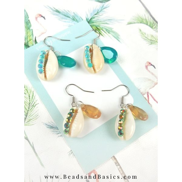 Beautiful Kauri Shells Make Earrings