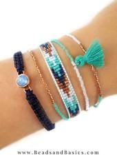 Mooie Blauwe Miyuki Armbandjes Zelf Maken