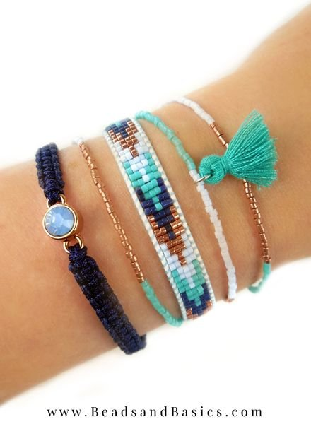 Beautiful Blue Miyuki Bracelets Make Your Own