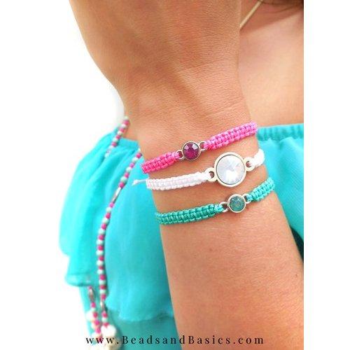 Summer Macrame Bracelets Buttons
